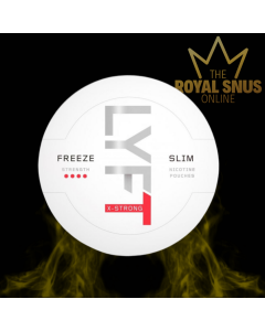 Lyft Freeze X-Strong Slim All White, Lyft Freeze X-Strong Slim جميع أكياس النيكوتين البيضاء