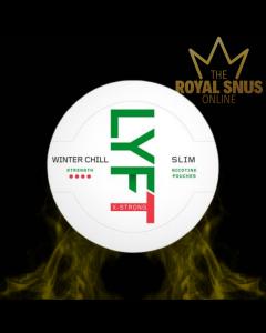 Lyft Winter Chill X-Strong Slim All White, أكياس النيكوتين lyft