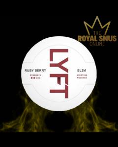 Lyft Ruby Berry Slim All White, أكياس النيكوتين lyft
